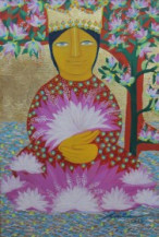 Saraswati | 18 x 12 Inches