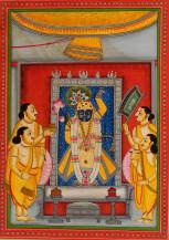 Shreenathji Ke Darshan I   14 X 10 Inches