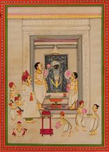 Shreenathji Ke Darshan II   14 X 10 Inches