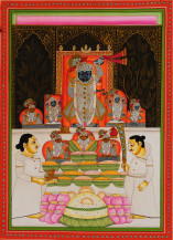 Shreenathji Ke Darshan IV | 14 X 10 Inches
