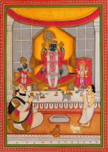 Shreenathji Ke Ddarshan III   14 X 10 Inches
