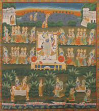 Krishan with Gopis | 80 x 77 Inches