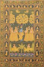Shri Krishna Sharad Purnima    86.5 x 57 Inches