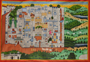 Srinathji Ki Haveli I | 48 X 72 Inches