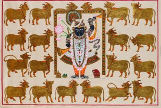 Srinathji Rajbhog Gopashtami Swaroop   24 X 36 Inches