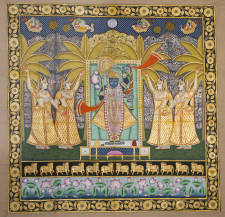 Srinathji with Gopis | 48 X 72 Inches