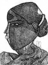 Telangana Woman    12 x 9 Inches