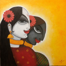 Twin Love - beyond Dark and Light | 18 x 18 Inches