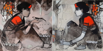 Untitled I (a) and I (b) | 15 X 15 Inches each