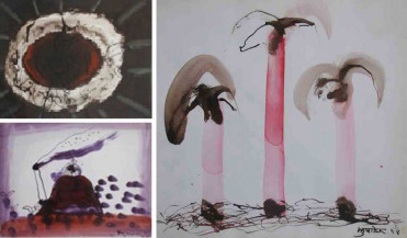 Untitled I - III | 10.5 X 14 Inches (2), 10 X 10 Inches (1)