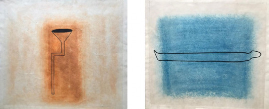 Untitled (Set of 2) | 10 X 11 Inches (Orange), 9.75 X 11 inches (Blue)