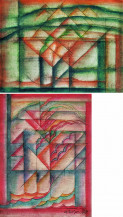 Untitled (Set of 2)   A. 9 1/2 x 12 1/2  B. 12 1/2 x 9 1/2 in