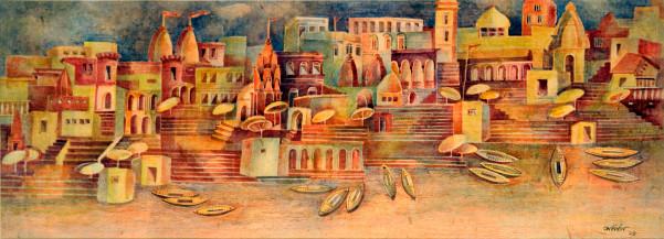 Varanasi | 14.5 X 39 Inches