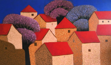 Villagescape | 31 X 49 Inches