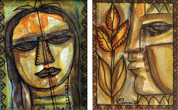 Woman and Man   10.6 X 8.2 Inches