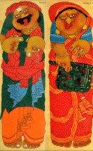 Baba & Bibi - I (Pair Of Panels)   35